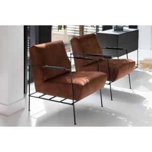 fauteuil design, en velours, tissu ou cuir