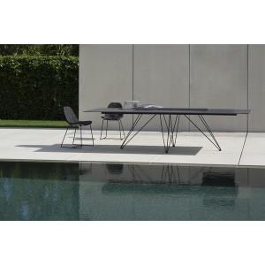 table WIRE rectangulaire en céramique INDOOR ou OUTDOOR