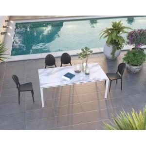 Table rectangulaire en céramique INDOOR ou OUTDOOR